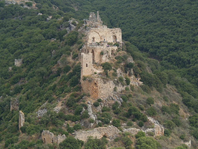 Montfort Castle, built by the Crusaders in the early 12th century, destroyed by Saladin in 1187; recaptured by the Crusaders in  1192, who restored the castle in 1220, only to lose it one final time to the Arabs in 1271.