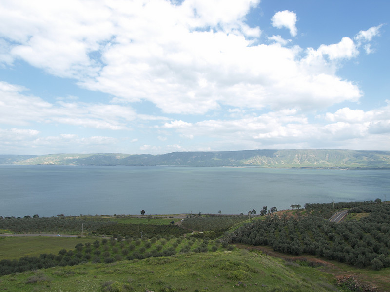 Along the shores of the Sea of Galilee