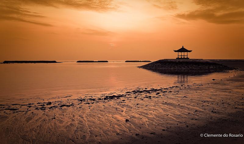 Sunrise st Nusa Dusa Beach, Bali, Indonesia