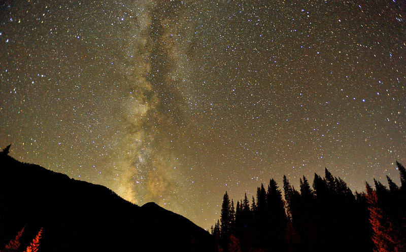 The Milky Way on a cloudless, absolutely still night in Southwestern Colorado.