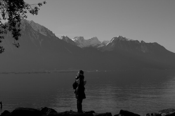 Switzerland, Chillon, Silhouette SNM