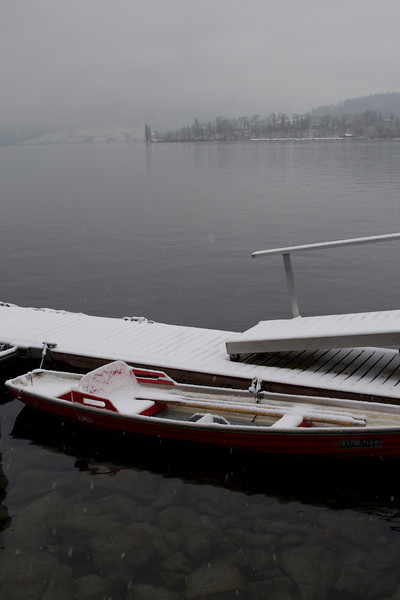 Switzerland, Lucerne, Canoe on the Lake SNM
