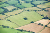 Aerial photo of an English landscape.