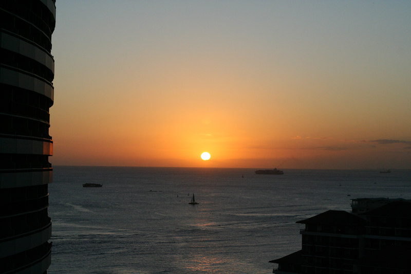 The view from our balcony every evening