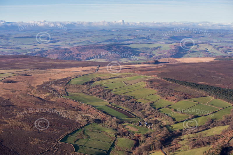 The Peak District from the Air.