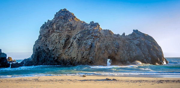 Pheiffer Beach in Big Sur California.