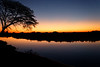Sunset over the Linyanti River, Botswana looking into the Caprivi Strip, Namibia