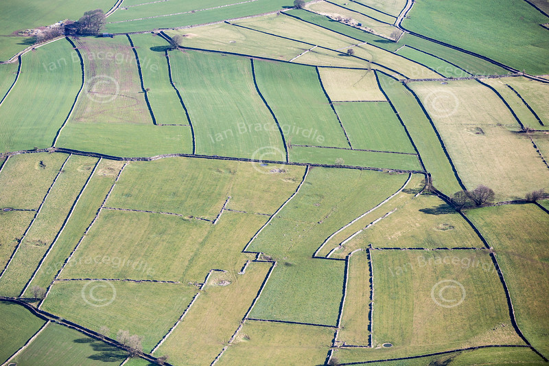 Derbyshire Landscape from the air.
