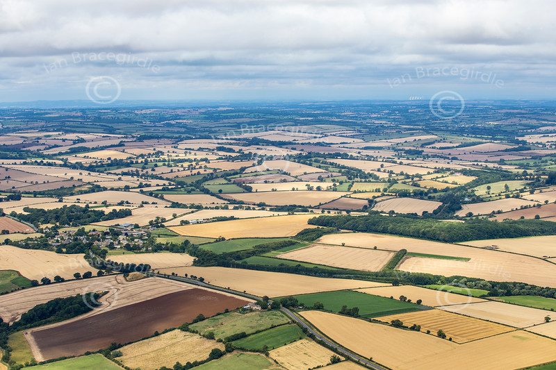 Aerial photo of a Northamptonshire landscape.