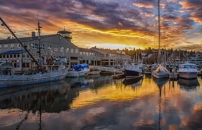 Safe Harbor at Sunset