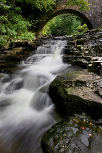 Waterfall and bridge, Yorkshire dales
