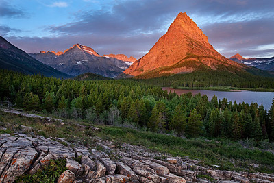 Mountain Peak Swiftcurrent Lake and Mount Gould, Glacier National Park 20080813_Glacier_239