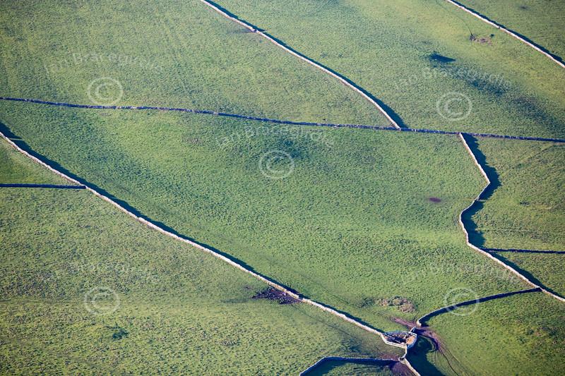 An aerial photo of a Derbyshire Landscape.