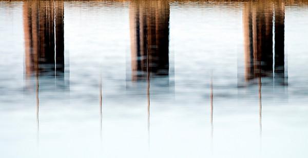 Reflection of BNR Trestle, Mud Bay