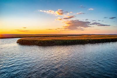 Sunset on  the Marsh Copyright 2020 Steve Leimberg UnSeenImages Com L1020824