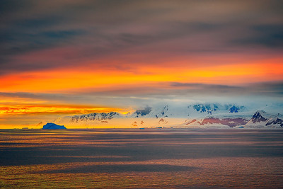 SunSet in Antarctica Summer Copyright 2020 Steve Leimberg UnSeenImages Com_DSF5502