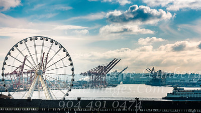 Seattle Wheel and Cranes - Copyright 2017 Steve Leimberg - UnSeenImages Com _DSF9175