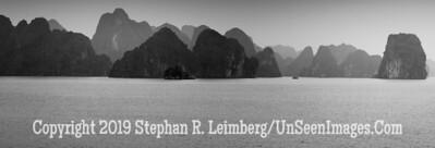 Halong Bay - B&W Copyright 2018 Steve Leimberg UnSeenImages Com _Z2A5415