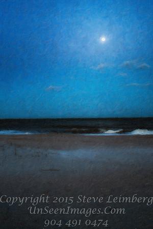 Moon over the Beach - Copyright 2016 Steve Leimberg - UnSeenImages Com L1010317