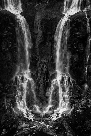 Magic Waterfall Iceland B&W Copyright 2021 Steve Leimberg UnSeenImages Com _DSC4284-Enhanced copy