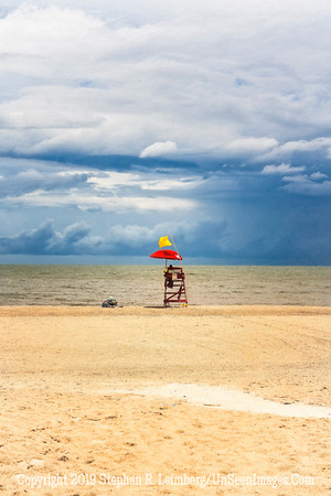 Lifeguard Before Storm - Painting - Copyright 2018 Steve Leimberg UnSeenImages Com _DSC4077