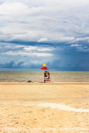 Lifeguard Before Storm - Painting - Copyright 2018 Steve Leimberg UnSeenImages Com _DSC4077