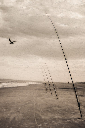 Fishing Poles on Beach Copyright 2021 Steve Leimberg UnSeenImages Com L1000196 copy