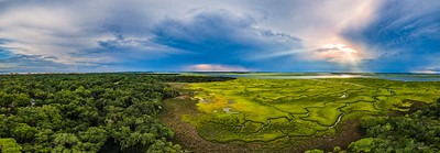 Marsh Pano Painting Copyright 2020 Steve Leimberg UnSeenImages Com