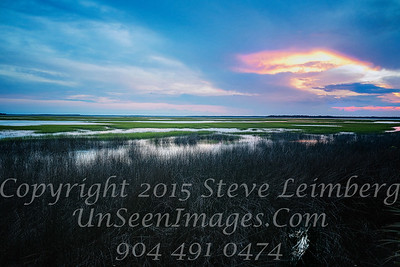 Marsh at Twilight - 30x20 Copyright 2016 Steve Leimberg - UnSeenImages Com L1020227