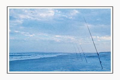 Fishing Poles on the Beach Copyright 2021 Steve Leimberg UnSeenImages Com L1000149 copy