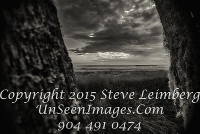 Sunset over Marsh - Amelia Island B&W - Copyright 2015 Steve Leimberg - UnSeenImages Com _H1R6747