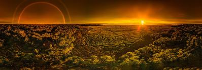 Marsh and Double Rainbow Pano - Copyright 2020 Steve Leimberg UnSeenImages Com 01-1-Pano