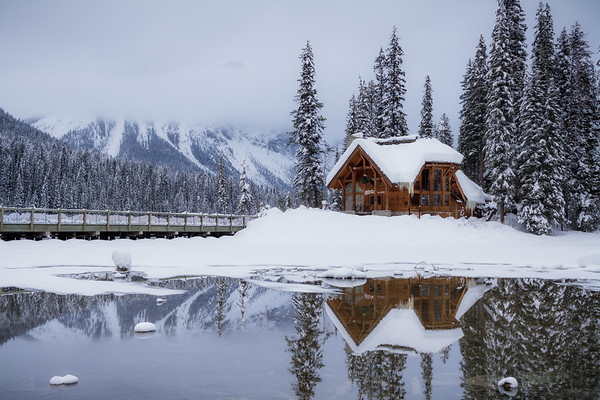 Emerald Lake In Winter