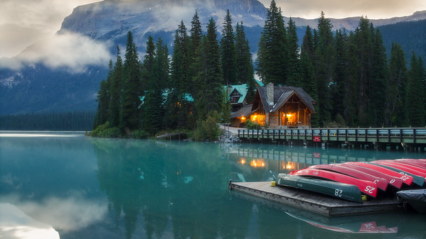 Emerald Lake In The Morning