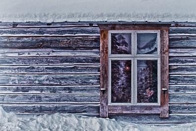 Am Fenster - Lappland, Schweden
