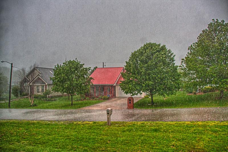 Tara Way during a rain storm