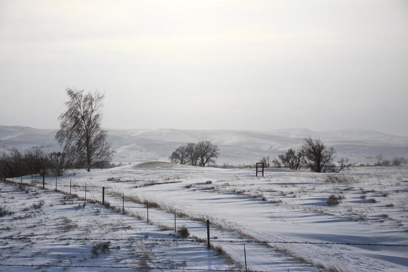 Snow Scene Sheridan, WY