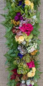 Wax flower, bozu, ʻōhiʻa, palapalai, grevillea, kalanchoe, cup-and-saucer, and bozu