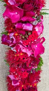 ʻŌhiʻa, hydrangea, kalanchoe, and epidendron