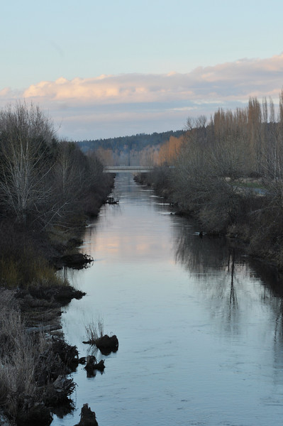 Sammamish River, Washington on a cold January evening.