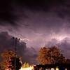 Lightening over Harpoon Eddie's in Sylvan Beach.