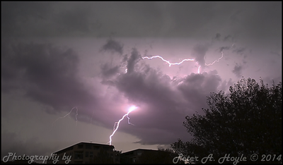 Lightening storm - 15th March 2014