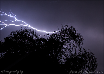 Lightening storm - 15th November 2013