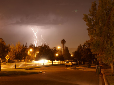 Lightning in Oak Park, California