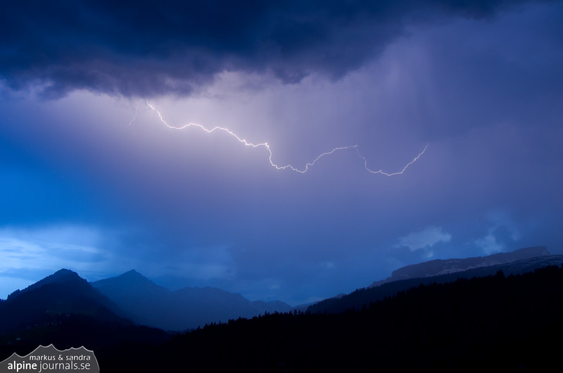 Lightning over Hohe Ifen