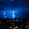 Lightning strikes over Malacca Malaysia