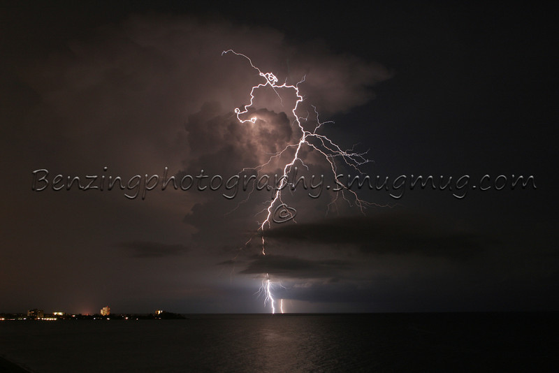 Lightning - Taken over the Gulf of Mexico, while at a friends wedding