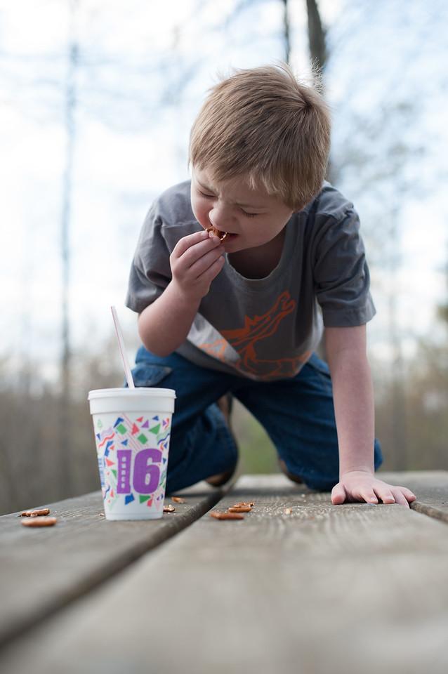 366 Project - April 08, 2012   <br /> Vincent at Linville Falls