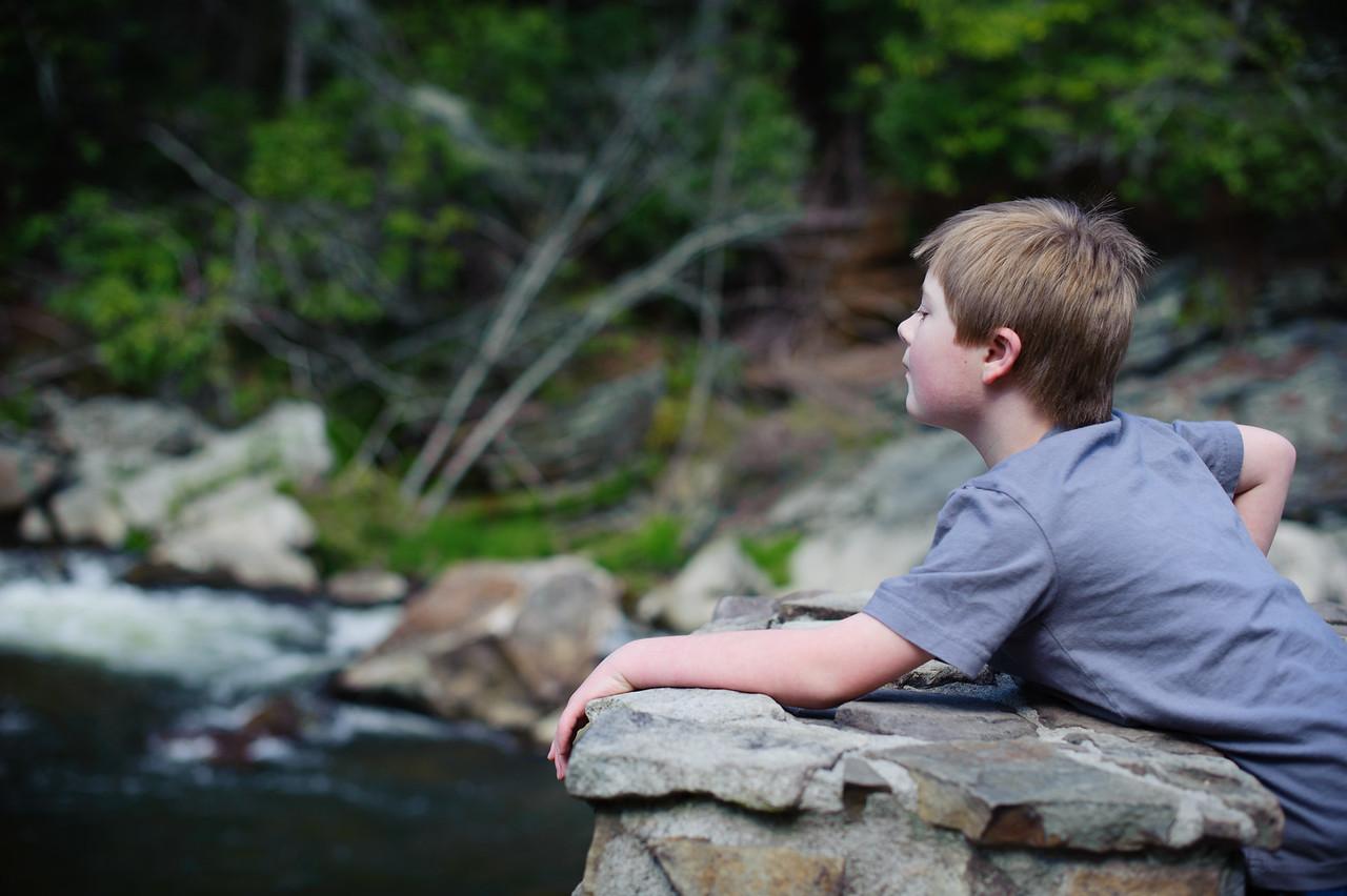 Vincent at Linville Falls