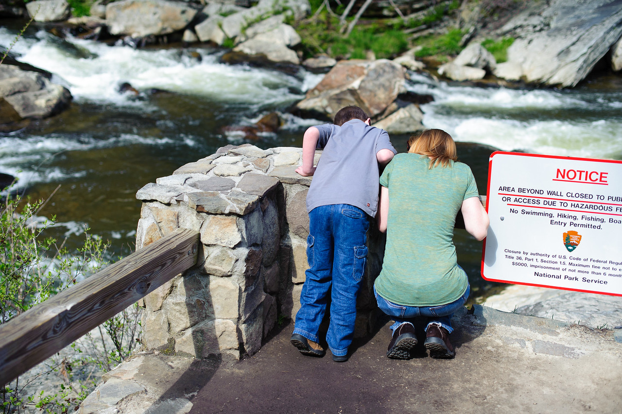Marisa and Vincent at Linville Falls